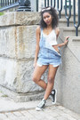 Sky-blue-levis-shorts-white-see-thru-tank-american-apparel-top