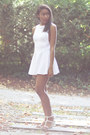 White-american-apparel-dress-white-alexander-wang-sandals