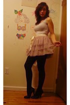 pink Target skirt - black Target tights - black Candies shoes - silver Uniqlo to