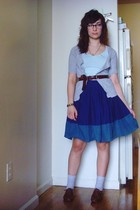 blue Tulle skirt - silver H&M socks - silver Old Navy cardigan - blue H&M shirt