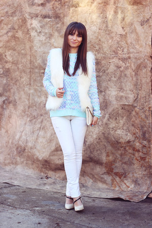 light blue OASAP sweater