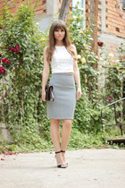 Pencil skirt & crop top