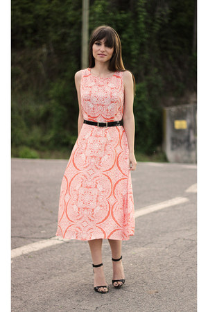salmon midi sugarhill boutique dress