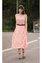 salmon midi sugarhill boutique dress