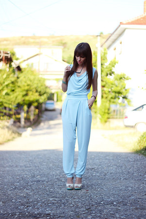 light blue Wal-G pants - nude dressv heels