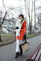 carrot orange romwe coat