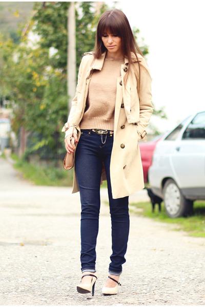 eggshell OASAP coat - beige OASAP sweater - Guess bag