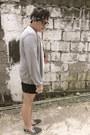 Crochet-house-of-rocks-necklace-dark-gray-forever-21-shorts