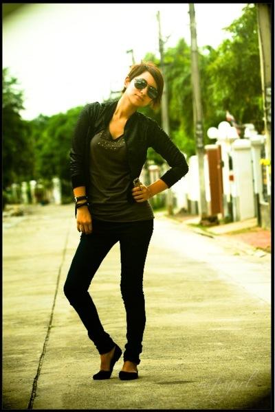 jeans - December no5 jacket - shirt - shoes - accessories - Nina Ricci purse