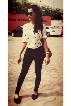 black Zara glasses