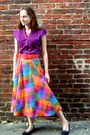 Orange-handmade-by-me-rags-and-feathers-skirt-purple-ruffled-express-blouse-