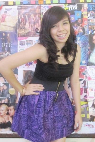 black People are People top - purple CoeurClothing skirt - pink  accessories - b