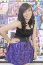 Black-people-are-people-top-purple-coeurclothing-skirt-pink-accessories-b