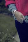 Black-primark-jeans-sky-blue-primark-blouse-hot-pink-primark-jumper