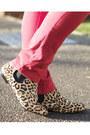 Red-primark-jeans-black-leopard-print-topshop-boots-camel-fedora-tk-maxx-hat