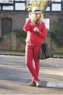 Black-leopard-print-topshop-boots-red-primark-jeans-camel-fedora-tk-maxx-hat