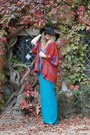 Black-floppy-hat-primark-hat-burnt-orange-kimono-in-love-with-fashion-jacket