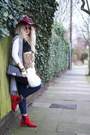 Red-marks-and-spencer-boots-navy-next-jeans-ruby-red-colette-hat