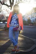 blue Beyond Retro top - light blue boyfriend H&M jeans