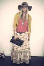 black studded bag Primark bag - dark brown TK Maxx hat - orange Primark blouse