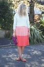 Aquamarine-h-m-sweater-salmon-sugarhill-boutique-skirt-orange-zara-flats