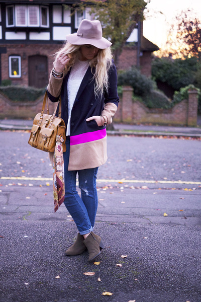 navy Gap coat - forest green Topshop boots - blue Forever 21 jeans
