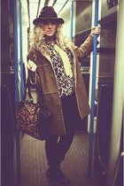 black Market boots - camel next coat - black Topshop jeans - dark brown boutique