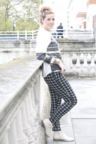 studded Matalan boots - China Doll jumper - checked asos pants