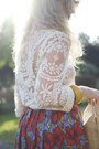 Off-white-lace-oasap-blouse-red-full-skirt-h-m-skirt