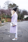 Light-purple-asos-coat-white-f-f-jeans-black-fur-bobble-hat-river-island-hat