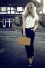 Mustard-vintage-bag-light-yellow-vintage-top-dark-brown-brogues-primark-flat