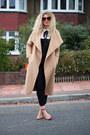 Camel-boohoo-coat-black-dungarees-asos-romper-white-next-blouse