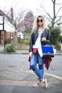 Navy-h-m-jeans-red-tartan-primark-shirt-blue-persunmall-bag