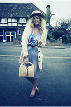 blue Primark dress - off white Primark cardigan - light brown Primark belt