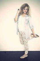 blue Primark shirt - white Newlook t-shirt - pink Primark jeans - pink Primark s