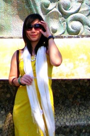 sun paradise dress - Mango sunglasses - Forever 21 scarf - diva bracelet - Gucci