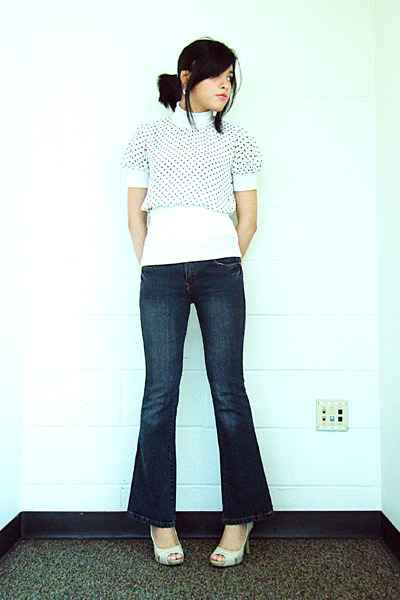 Charlotte Russe top - Jag jeans - Mossimo shoes - Target earrings