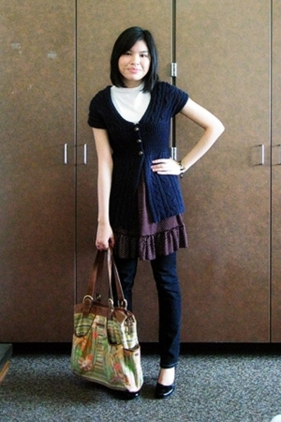 Secondhand top - Secondhand dress - XOXO top - abercrombie and fitch jeans - thr