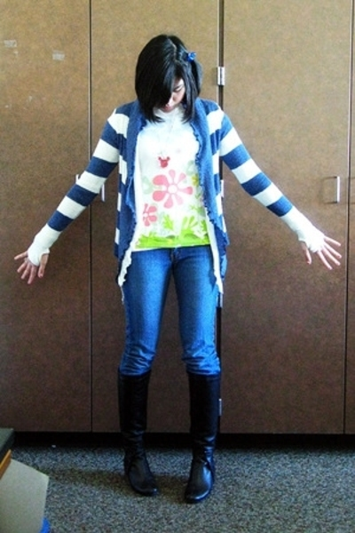 landmark sweater - Penshoppe shirt - human jeans - aerosoles boots - necklace