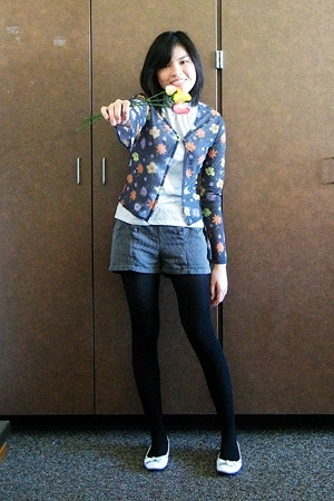 Secondhand sweater - Cherokee top - Glorietta shorts - merona tights - Charlotte