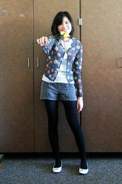 Secondhand sweater - Cherokee top - Glorietta shorts - merona tights - Charlotte