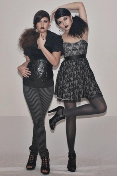 Zara dress - Zara shoes - Ray Kuan top - Ilaya Couture top - H&M pants - Anthem