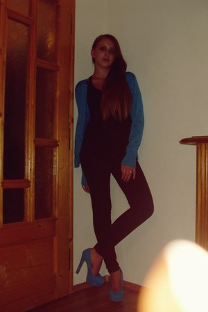 turquoise blue Atmosphere heels - turquoise blue Atmosphere blazer