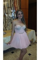 light pink Alure dress - light pink leather heels