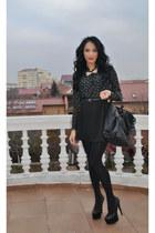 Stradivarius shirt - IQ shoes - new look bag - Stradivarius skirt