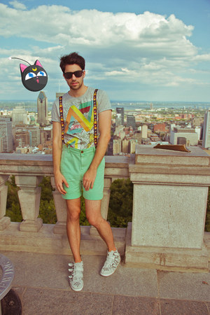 asos shorts - asos shorts - asos sneakers - Hot Topic accessories
