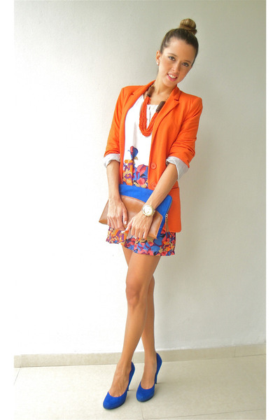 Blue dress orange shoes images | Fashion dresses lab