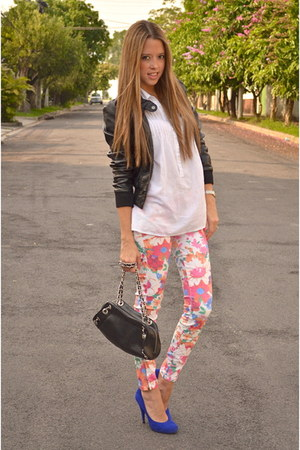 H&M jacket - pull&bear shirt - Chanel bag - Zara pants