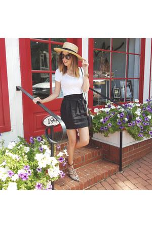 H&M hat - Topshop flats - pull&bear skirt - black ring