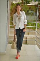 Zara jeans - H&M blouse - Zara heels